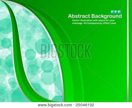 Vector. Green background in RGB colors with random transparent cells.