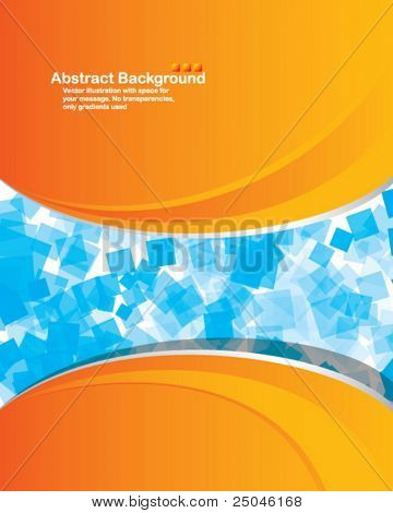 Vector. Abstract background with random transparent squares and place for your message.