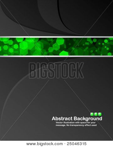 Abstract background with transparent random green cells and space for your message. No
