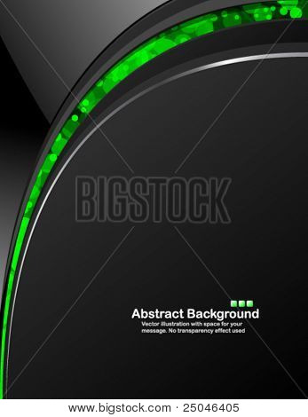 Dark background with random transparent circles. Vector illustration in RGB colors.