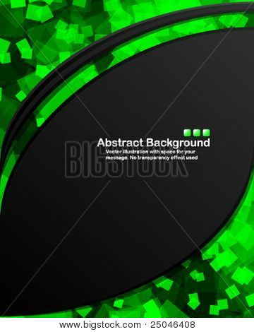 Dark background with random transparent squares. Vector illustration in RGB colors.