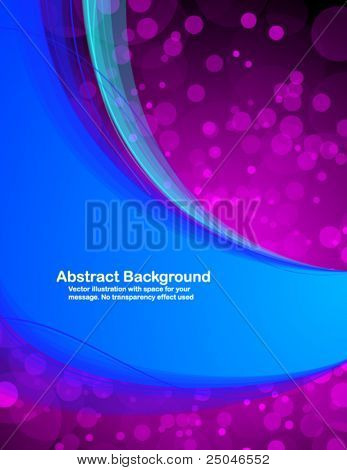 Abstract  fresh background with space for text. Vector illustration in RGB colors.