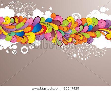 farbigen Hintergrund mit Raum für Ihre Mitteilung