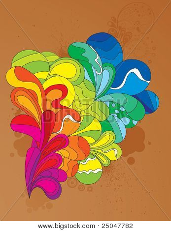 Colorful cheerful element for your design. CMYK gamut.