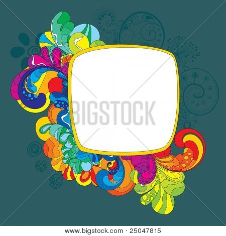 Colorful frame for your message. Strokes were not expanded, you can change it's size and color.