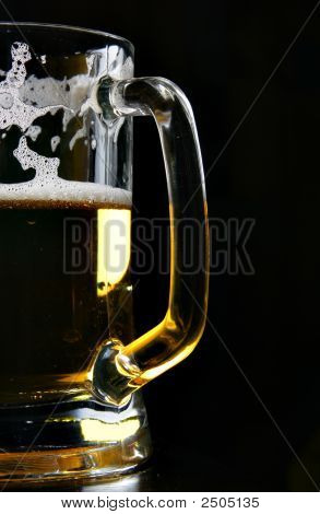 Beer Mug Over Black