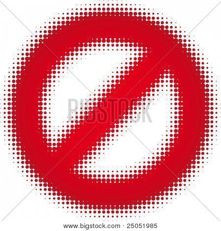 empty sign (dots design series)