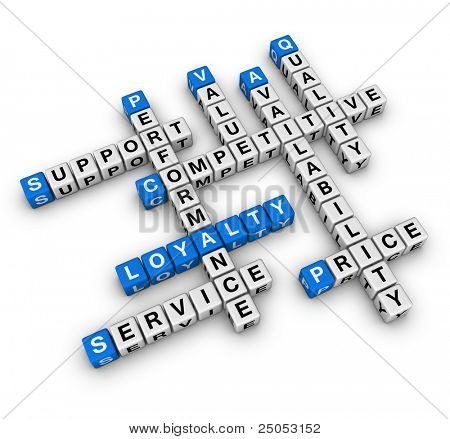 customer loyalty (blue-white cubes crossword series)