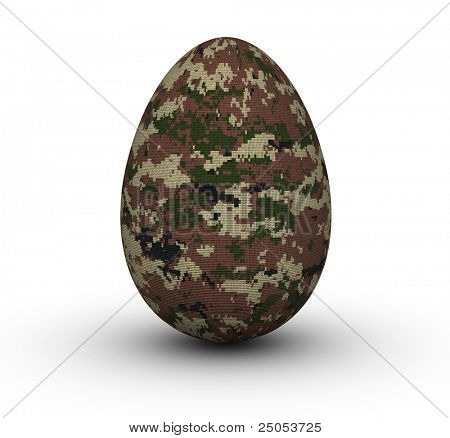 Digital Camouflage Easter Eggs
