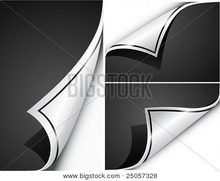 Paper curls. Vector