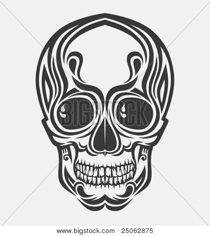 vector drawing of a stylized skull