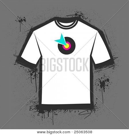 Original blank t-shirt template. Vector illustration.