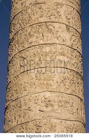 Trajan Column Located In Trajan Forum In Rome