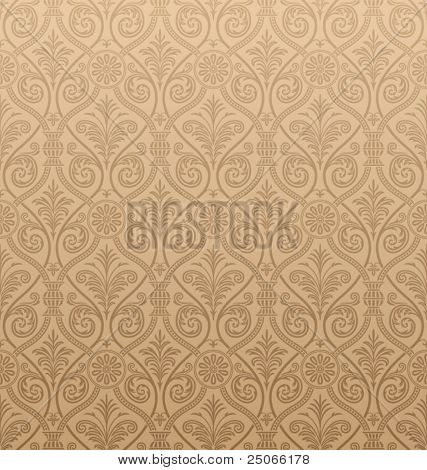 Seamless Gothic Damask Background