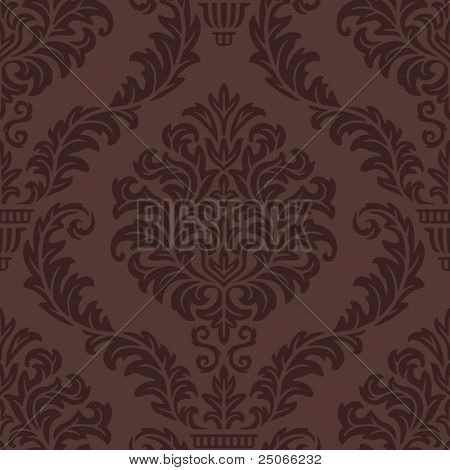Seamless Damask Web Pattern