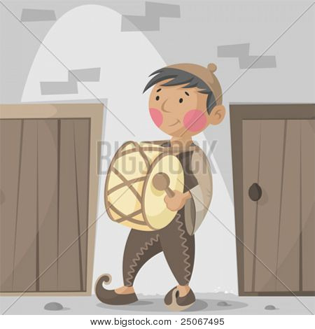 Mousaher is a traditional drummer that wakes up people in the early morning so they can get ready and have thier breakfast early That's called