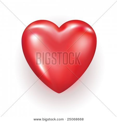 Vector editable heart
