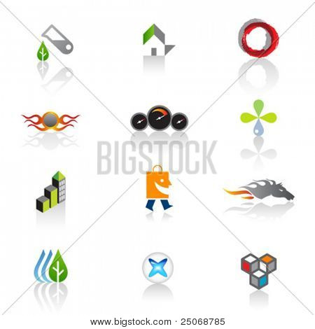 Set of original logos. Vector 2