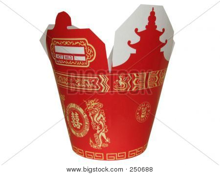 Large Red Chinese To Go Box