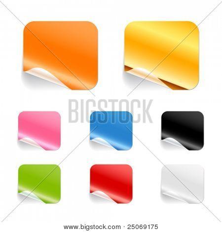 blank stickers. Editable, no mesh.