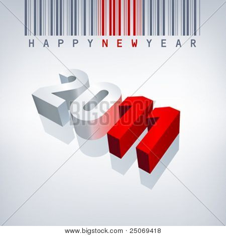 2011 vector greeting card. Editable.