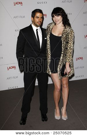 LOS ANGELES - NOV 5: Eli Roth; Victoria Asher at the LACMA Art + Film Gala on November 5, 2011 in Los Angeles, California