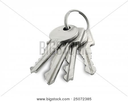 Keys isolated on white background, clipping path included.