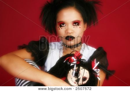 Indonesian Goth Doll