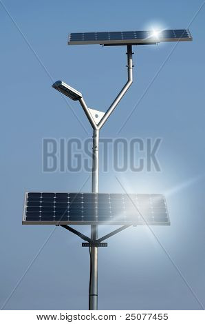Solar Panels And Lamp