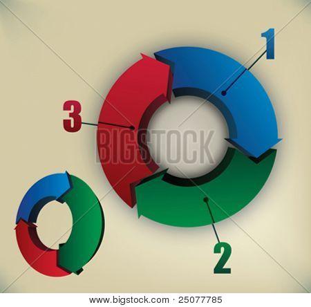 arrows in cyclic movement