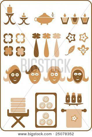 eine Auflistung von Aromatherapie-Design-Elemente. (set Nr. 3)