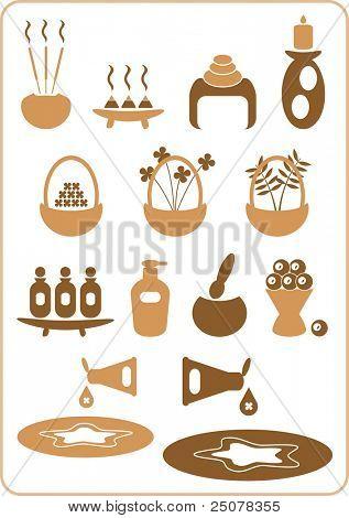 eine Auflistung von Aromatherapie-Design-Elemente. (set Nr. 2)