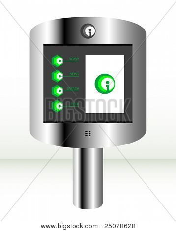 Information Kiosk with sample graphical interface displayed.