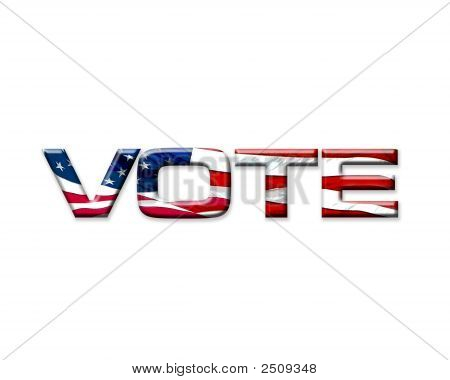 Vote Graphic With Usa Flag