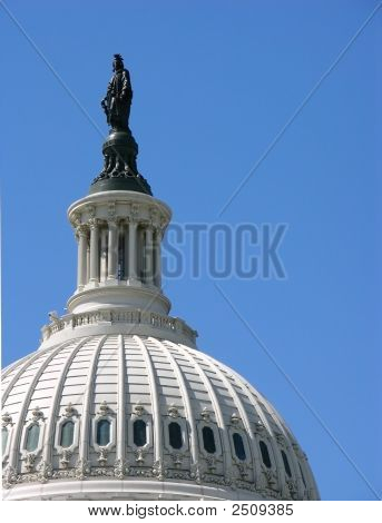 Close-Up Of United States Capitol Dome