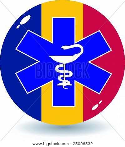 Vector Illustration Of Signs National Medicine Of Romania