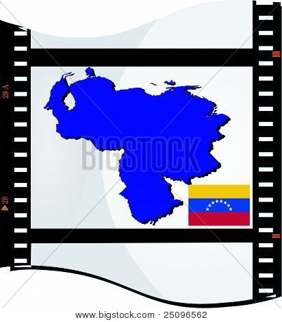 Film Shots With A National Map Of Venezuela