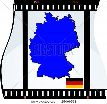Film Shots With A National Map Of Germany