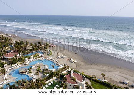 Vista do Resort de praia