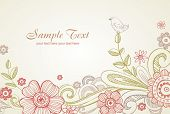 Floral vectro background, greeting card.  All elements separately, very useful for creation of any d
