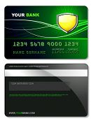 foto of debit card  - Credit card template - JPG