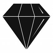 Diamond Stone Icon. Simple Illustration Of Diamond Stone Vector Icon For Web Design Isolated On Whit poster