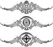 stock photo of corbel  - Three vector patterns using Celtic ornamental elements - JPG