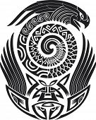 stock photo of maori  - Tribal tattoo pattern - JPG
