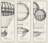 picture of parachute  - Retro banners - JPG