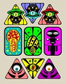 stock photo of psychodelic  - Psychodelic stickers - JPG