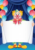 Vector illustratie - gember clown