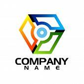 Abstract Triangle Logo, Creative Media Play Logo, Vector Logo Concept Illustration,media Logo Sign,  poster