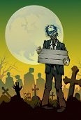 picture of walking dead  - halloween background - JPG