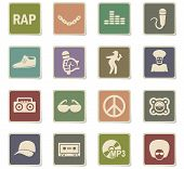 Rap Web Icons For User Interface Design poster